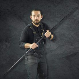 Black Expandable Bo Staff