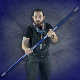 Blue Competition Aluminum Bo Staff