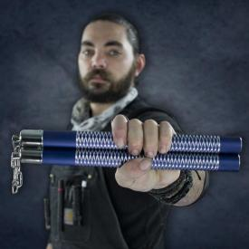 Blue Competition Aluminum Nunchucks