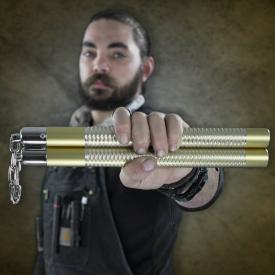 Gold Competition Aluminum Nunchucks