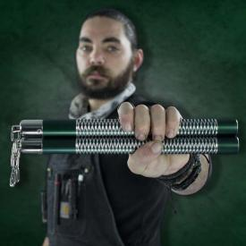 Green Competition Aluminum Nunchucks