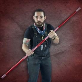 Red Competition Aluminum Bo Staff