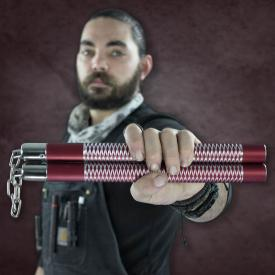 Red Competition Aluminum Nunchucks