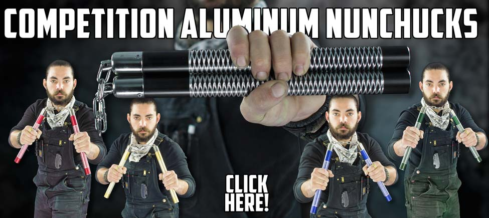 New Lightweight Aluminum Competition Nunchucks