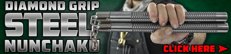 Diamond Grip Steel Nunchaku